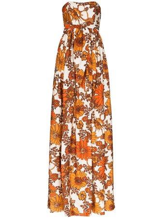Dodo Bar Or Zaza Floral Print Maxi Dress Ss20   Farfetch.Com