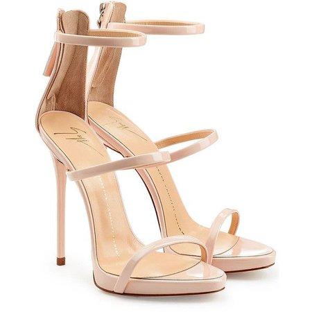 Beige Pink Sandal Heels