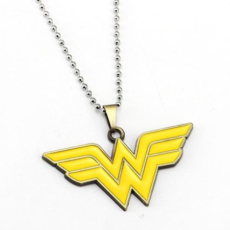 Superhero Wonder Woman Logo Necklace – Unique You Jewelry and Accessories