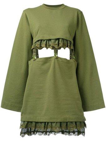 FENTY X PUMA kimono sleeve suspender dress.