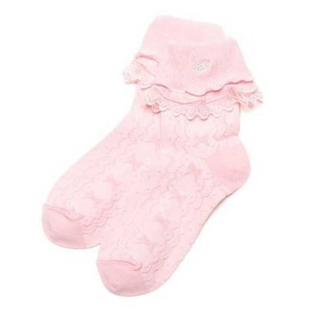 frilly pink socks