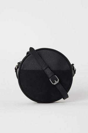 Round Shoulder Bag - Black