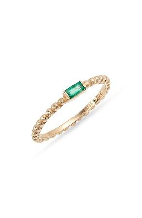 Anzie Emerald Dew Drop Ring | Nordstrom