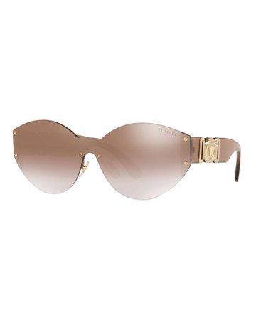 Versace Rimless Round Metal Sunglasses