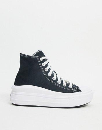 Converse Chuck Taylor Move platform hi sneaker in black | ASOS