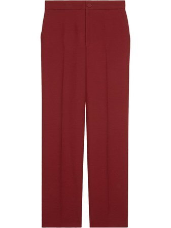 Gucci, straight-leg tailored trousers