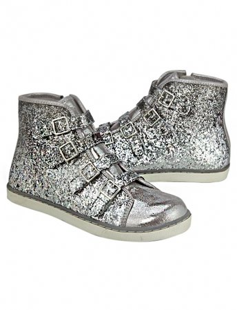 Silver High Top Sneakers