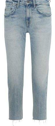 The His Cropped Distressed Boyfriend Jeans