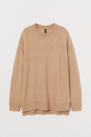 Knit Sweater - Beige - Ladies   H&M US