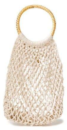 Andie Crocheted Cotton Tote