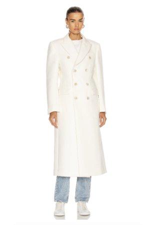 Winter White Coat Model