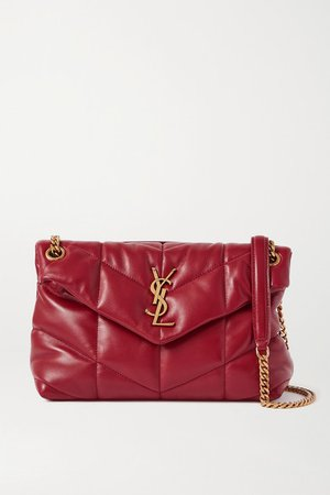 Loulou Puffer Small Quilted Leather Shoulder Bag - Red