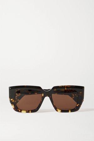 Tortoiseshell Oversized square-frame tortoiseshell acetate sunglasses | Bottega Veneta | NET-A-PORTER