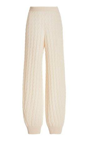 Cable-Knit Cashmere Jogger Pants By Toteme | Moda Operandi