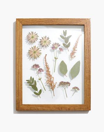 Framed Florals Pink and Green Flower Frame