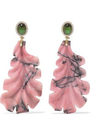 Casa Castro | 18-karat gold multi-stone earrings | NET-A-PORTER.COM