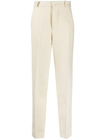 AMI Paris high-waisted straight-leg trousers - FARFETCH