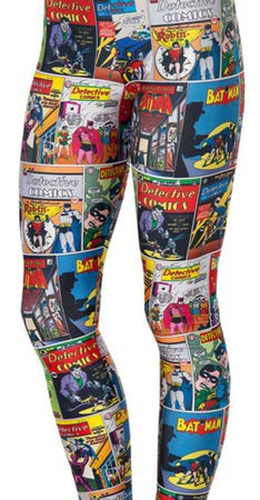 Batman Comic Leggings