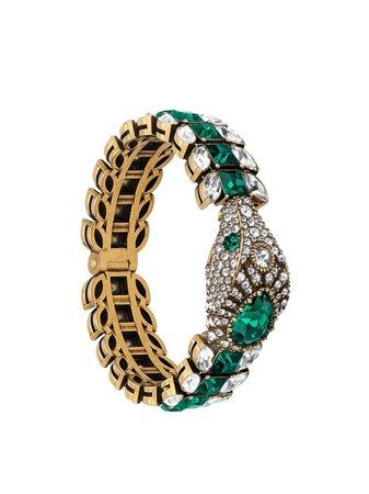Gucci Snake Crystal Bracelet 596004I4769 Green | Farfetch