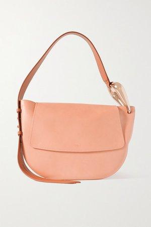 Kiss Leather Shoulder Bag - Beige