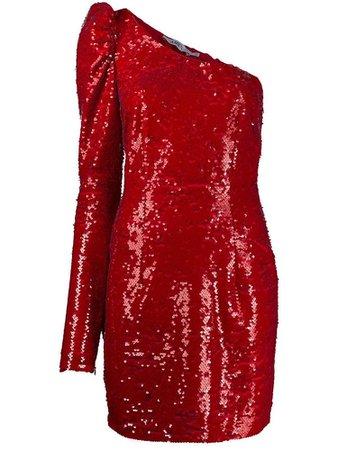 AMEN sequin one-shoulder mini dress