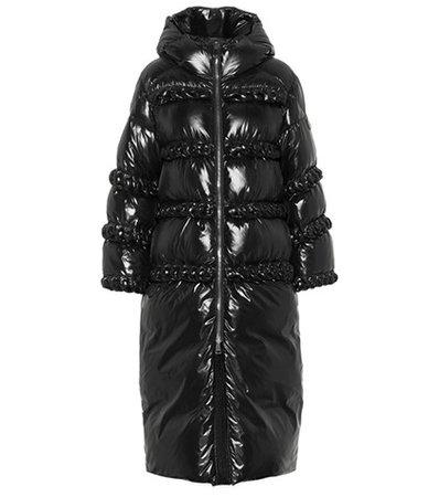 X Noir Amethyst down coat