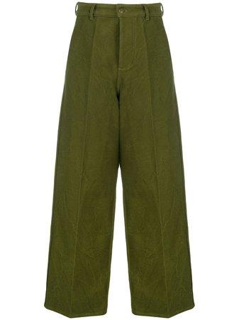 AMI wide-leg Trousers - Farfetch