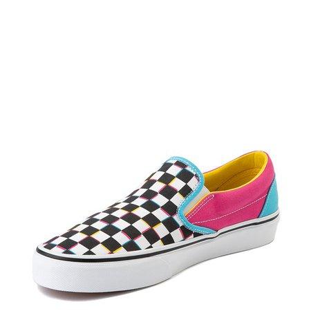 Vans Slip On Checkerboard Skate Shoe - Multi | Journeys