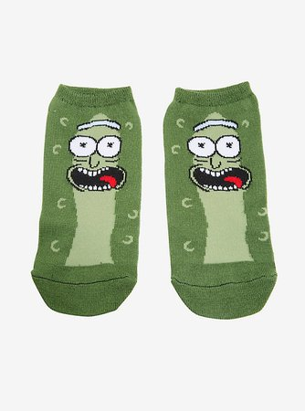 Rick And Morty Pickle Rick No-Show Socks