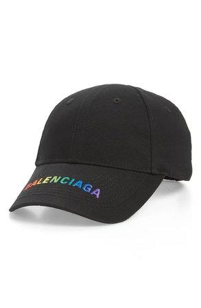 Balenciaga Rainbow Logo Baseball Cap | Nordstrom