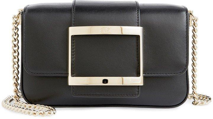 Micro Tres Vivier Calfskin Leather Crossbody Bag