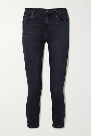 Dark denim 835 cropped mid-rise skinny jeans | J Brand | NET-A-PORTER