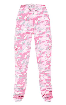 Pink Camo Cargo Pocket Jogger | Trousers | PrettyLittleThing USA