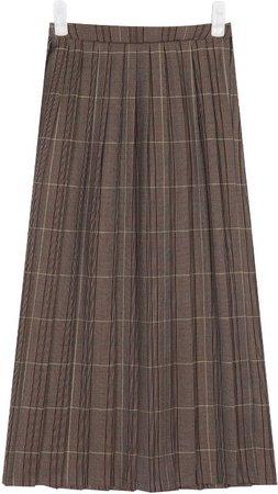 Plaid Pleats Skirt by AIN
