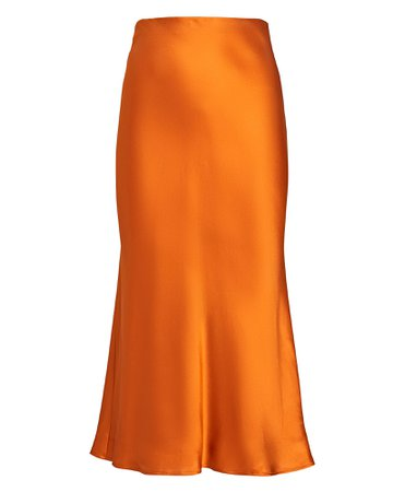 L'Agence Perin Silk Charmeuse Skirt | INTERMIX®