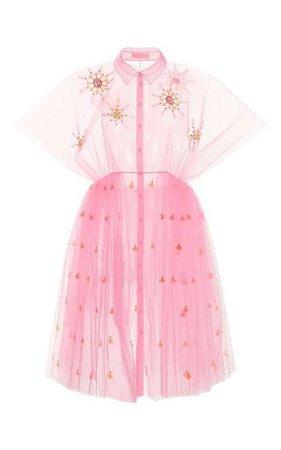 Pink Sheer Dress