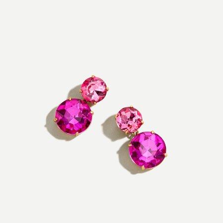 J.Crew: Two Gem Drop Earrings For Women