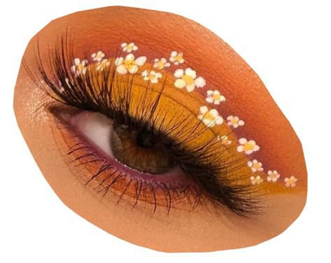 orange eyeshadow brown eye filler png mood