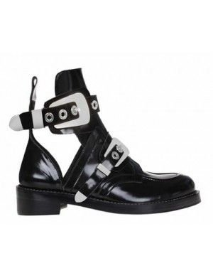*Exclusive - CRUSH Black Cutout Boots - Silver Buckles|Black| In Shoes | JESSICABUURMAN