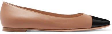 Leather Ballet Flats - Neutral