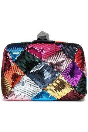 Prismick sequined satin clutch | ROGER VIVIER | Sale up to 70% off | THE OUTNET