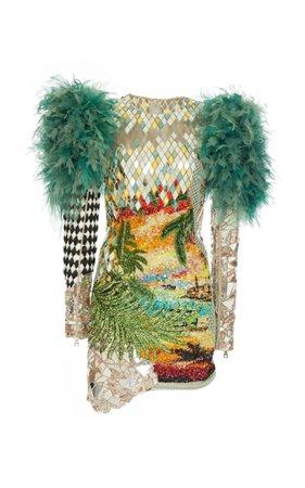 Embroidered Sunset Print Dress by Balmain | Moda Operandi