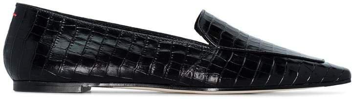 Aeyde Aurora croc-effect loafers
