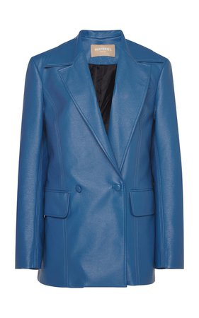 Oversized Faux Leather Blazer by MATÉRIEL | Moda Operandi