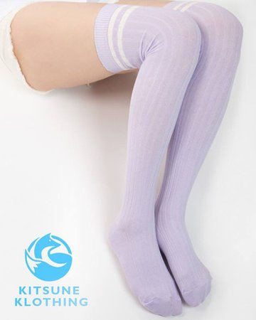 pastel purple socks