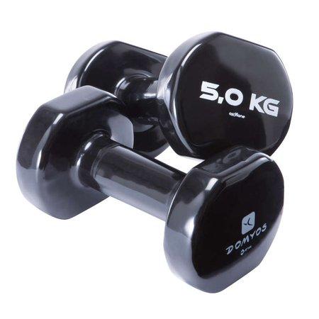 Manubri pvc 2*5 kg NYAMBA - MATERIALE TONIFICAZIONE Ginnastica, Pilates - Decathlon...