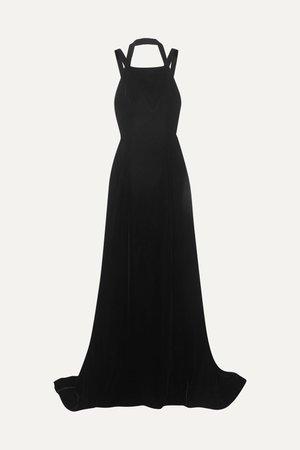 Black Silk-velvet gown | Alaïa | NET-A-PORTER