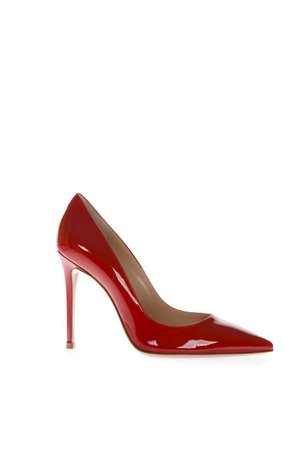 Gianvito Rossi Paris Red Patent Leather Pumps