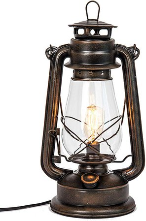 Dimmable Electric Lantern lamp with Edison Bulb Included Rustic Rust Finish: Amazon.ca: Home & Kitchen