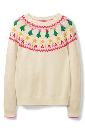 Boden Festive Fair Isle Wool, Cotton & Alpaca Blend Sweater | Nordstrom